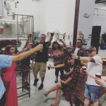 Glasses clinking behind the scenes at townincitybrew! drinklocal houstonbrewerytours designateddrinkerhellip